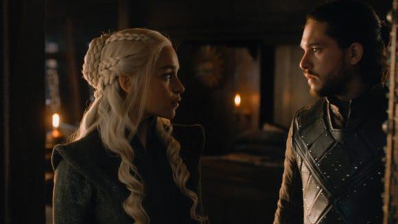 Daenerys Targaryen (Emilia Clarke) and Jon Snow (Kit