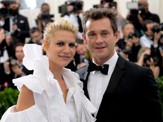 """""""Homeland"""" star Claire Danes and her husband, actor Hugh Dancy, attended the Metropolitan Museum of Art's Costume Institute benefit gala in 2017."""