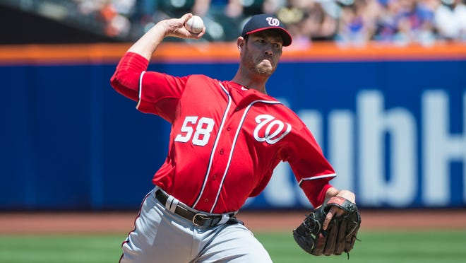 Nationals pitcher Doug Fister handcuffed the Mets on Sunday at Citi Field.