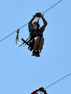 The fourth annual Wells Fargo Zipping for Autism fundraiser will be Sunday at Asheville Zipline Canopy Adventures and Treetops Adventure Park.