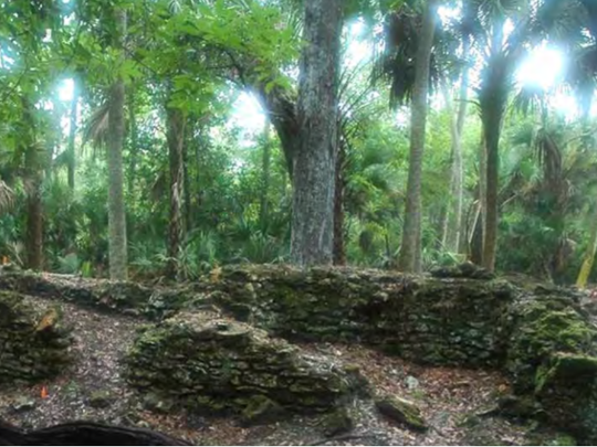 What remains of the sugar mill of the Elliot Plantation on Merritt Island.
