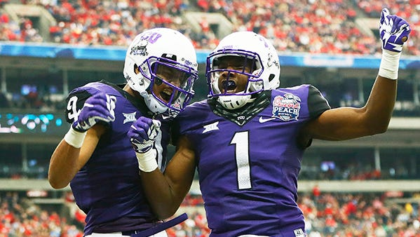 """Purple is commonly known as the color of royalty, and the TCU Horned Frogs have become that in the world of college football jerseys,"" Sean Frye of Bleacher Report wrote."