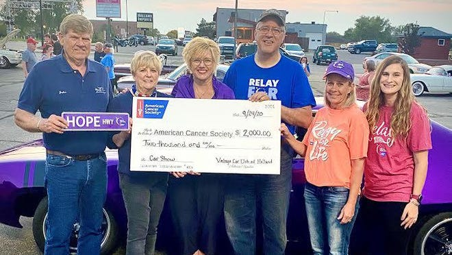 The Vintage Car Club of Holland raised $2,000 for the American Cancer Society during a car show in September.