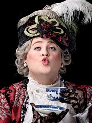 """Andrew Goldwasser as Lady Bracknell in """"The Importance"""
