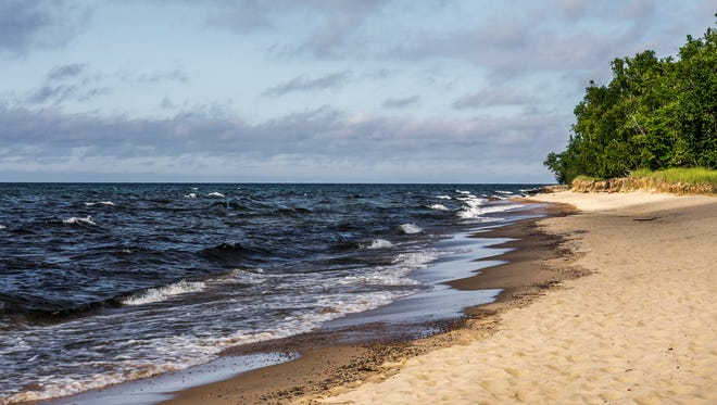 Sandy beach on the shores of Lake Superior.