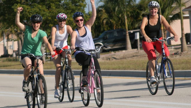 In Cape Coral, existing segments of bike paths were linked to create a 90-mile network.