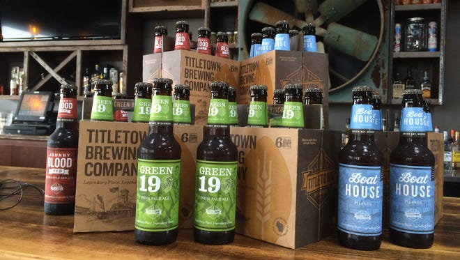 Dark Helmet Schwartzbier, a German-style black lager, will soon join the Titletown Brewing Co. bottled beer lineup.