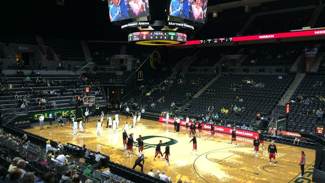 Oregon hosts Western Oregon on Tuesday at Matthew Knight Arena in Eugene.