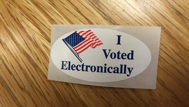 A sticker handed out during the 2016 Washoe County Primary election.