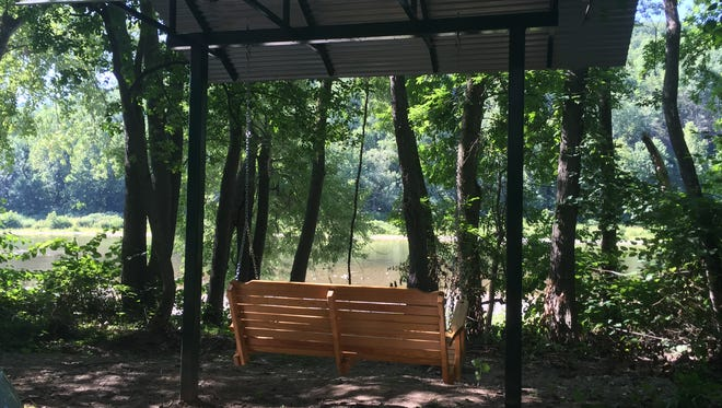 Two bench swings were recently installed overlooking the Chemung River in the Town of Elmira.