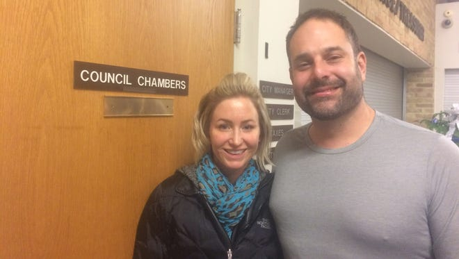 The Brighton City Council approved a special land use permit Thursday for Alana Cogo's eyebrow microblading shop, 3D Brow Artistry. Cogo and her husband, John, attended the meeting.