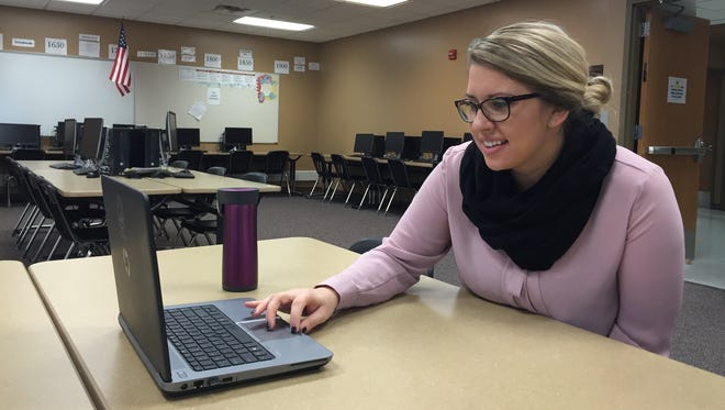 Haylee Melham, a social studies teacher at New Technology High School, is looking to crowdfunding to pay for virtual reality headsets for her students.