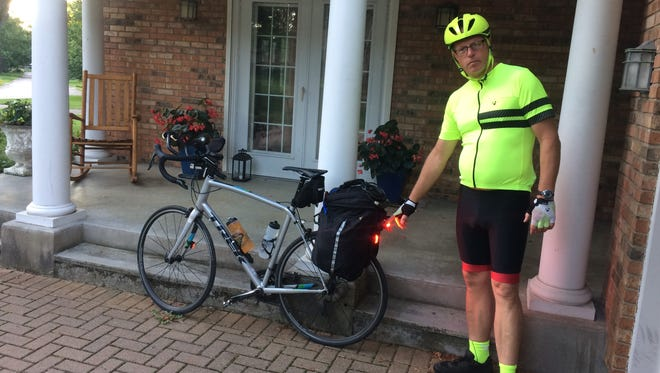 Mike Cappel will cycle 750 miles from Montgomery, Ohio, to Montgomery, New York. His 10-day effort begins Aug. 30.