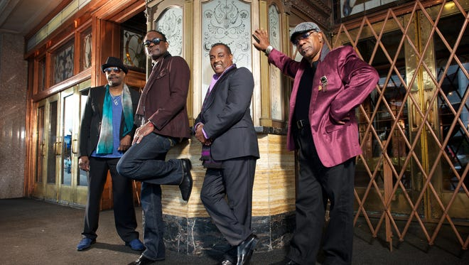 """Ronald Bell (from left), George Brown, Robert """"Kool"""" Bell and Dennis Thomas of Kool and the Gang."""