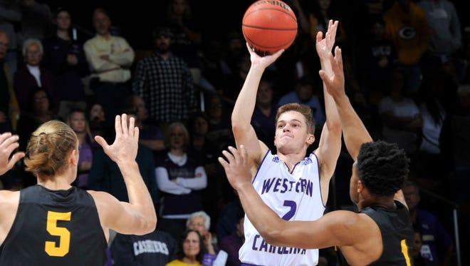 Former Christ School star Matt Halvorsen leads Western Carolina in scoring as a freshman.