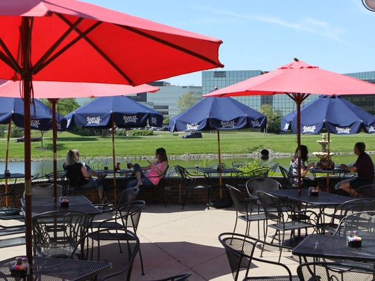 The patio area at Firehouse Grill in Blue Ash.