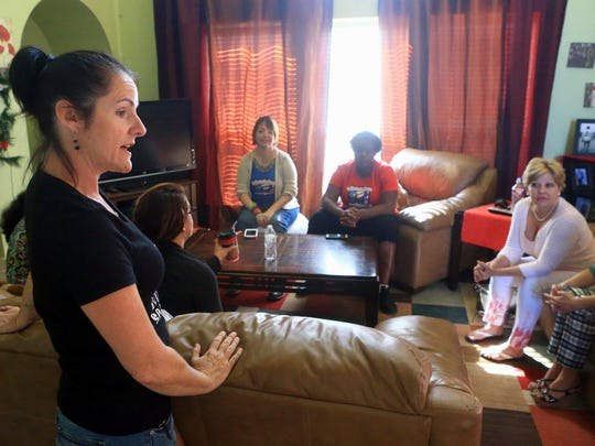 Navy veteran LeeAnn Fox talks about the Women Veterans of the Coastal Bend on Thursday, April 27, 2017, in Corpus Christi. She founded the group to make sure local women who are veterans knew how to apply for their benefits.