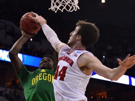 NCAA Basketball: NCAA Tournament-3rd Round-Oregon vs Wisconsin