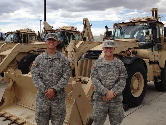 1st Lt. Isaac Ro and 1st Lt. Cody Millhouse teamed up to finish fourth at the Army-wide Best Sapper Competition at Fort Leonard Wood, Mo.