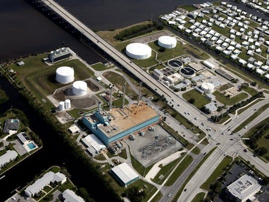 An aerial of the two eastern corners of 17th Street and Indian River Boulevard owned by the city of Vero Beach before the eastern side of the power plant was demolished.