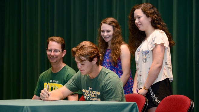 Reynolds senior Andrew Wall will play college football for East Tennessee State.