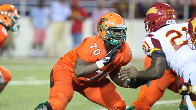 As a freshman, Obinna Nwankwo played in eight of FAMU's 11 games and was a starter by the end of the season.