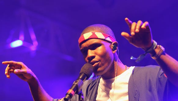 Frank Ocean performs onstage at Coachella on April