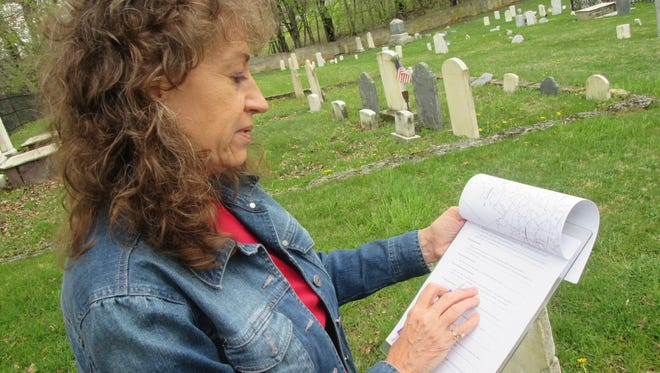 Genealogist Pam Anderson, volunteer for the Franklin County Historical Society and owner of Anderson Construction & Geneaology, locates graves requested through findagrave.com.