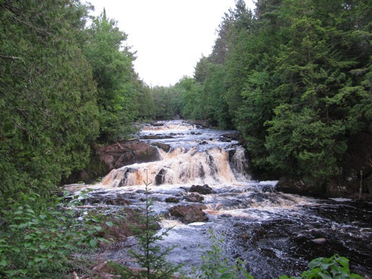 The Tyler Forks River flows along the eastern border of the land where Gogebic Taconite had planned to store mining wastes and empties downstream into the Bad River and Copper Falls State Park.