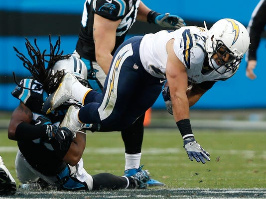 USP NFL: SAN DIEGO CHARGERS AT CAROLINA PANTHERS S FBN USA NC