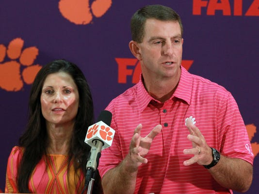 Dabo and Kathleen Swinney