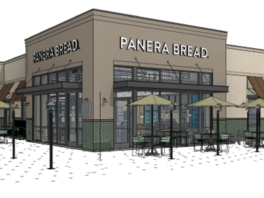 A rendering of the proposed Panera Bread from the Monday, June 11 Architectural Review Board meeting. The business still has to get approval from the City Plan Commission.