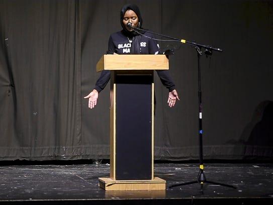 Hawa Adam of the Social Justice Union at Burlington