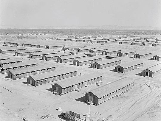 Living quarters of evacuees of Japanese ancestry at
