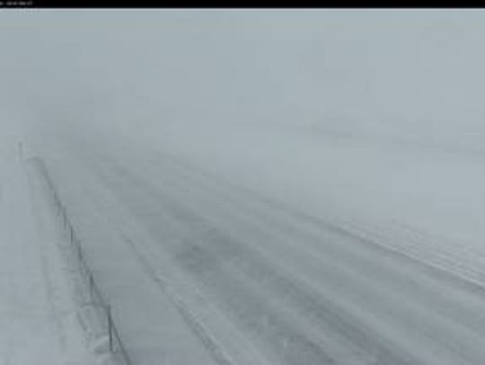 Road conditions on I-29 near Watertown Friday, April