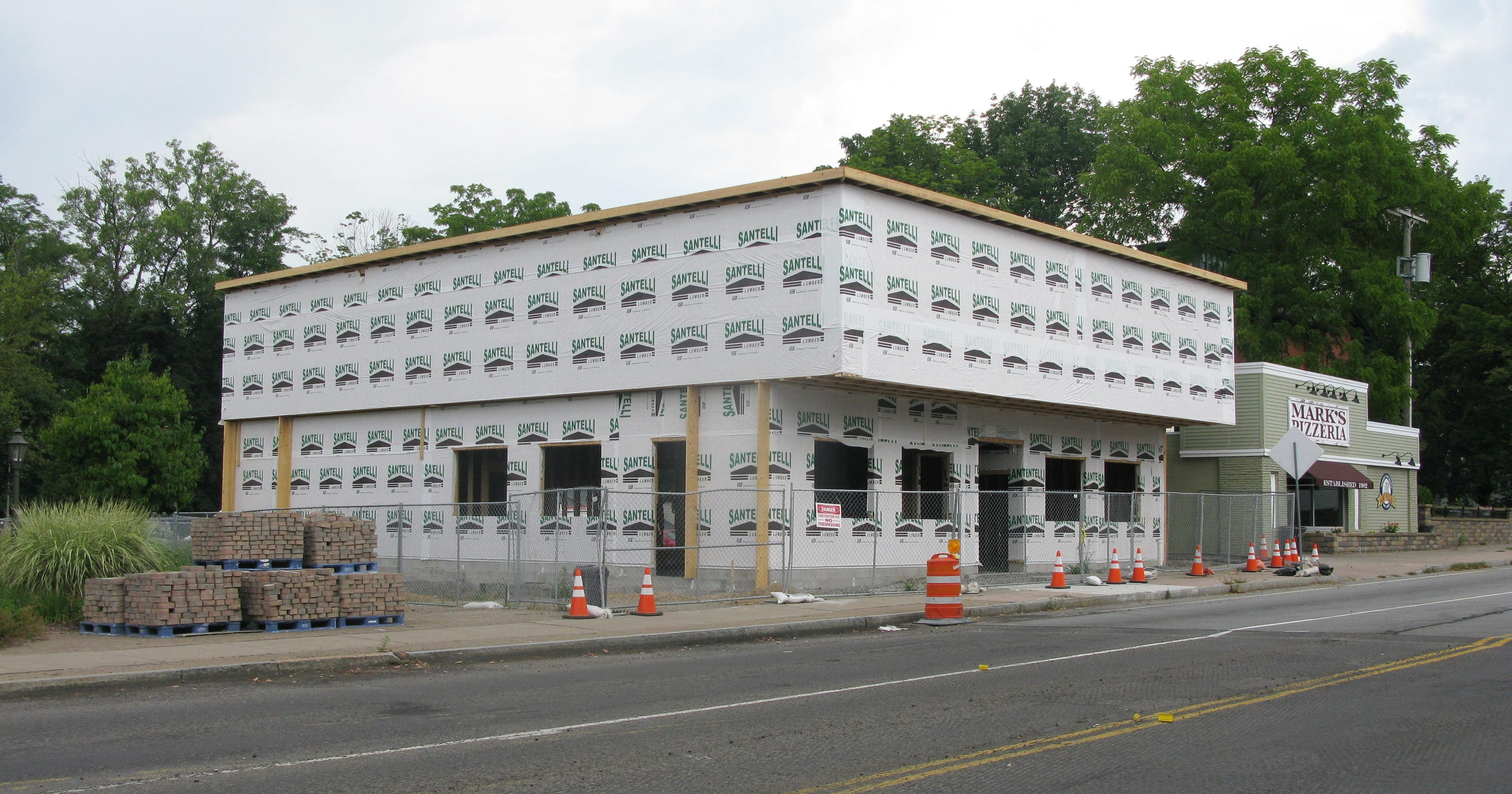 Marks Pizzeria Begins Phase Ii Police Headquarters 7744