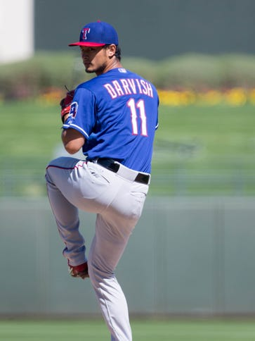 Yu Darvish threw 10 of 12 pitches for strikes before