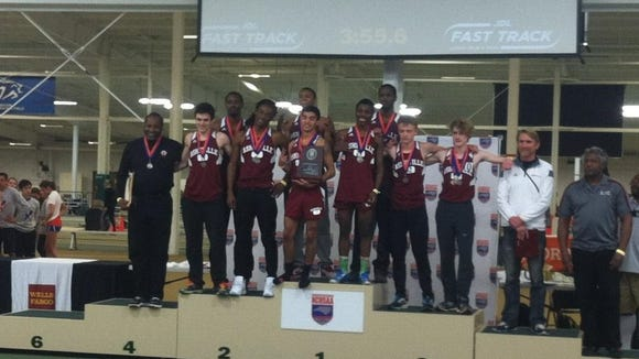 The Asheville High boys were the runner-up team in Saturday's NCHSAA 3-A indoor track meet.