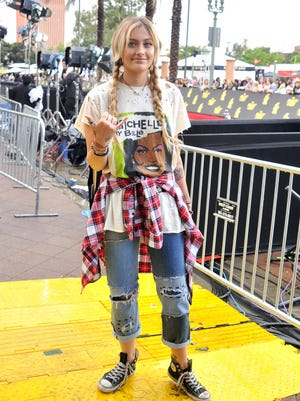 Paris Jackson, fully clothed, at the MTV Movie & TV Awards.