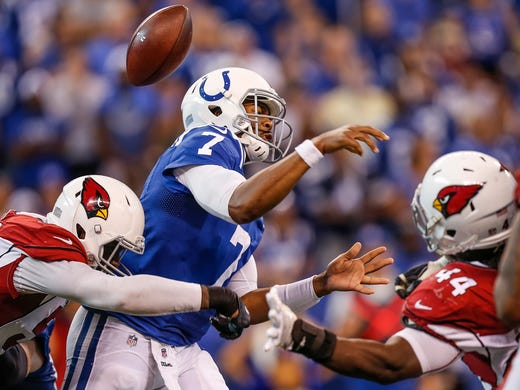 a19177bbe Indianapolis Colts  Jacoby Brissett gets fans excited