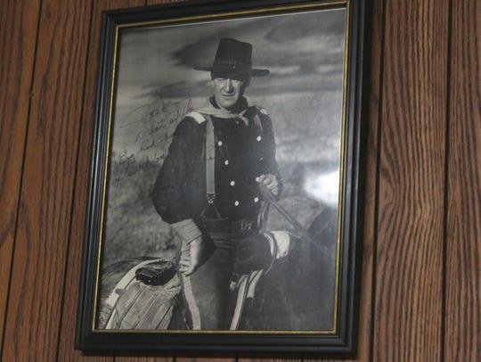 A signed photograph of John Wayne that Jack Barham