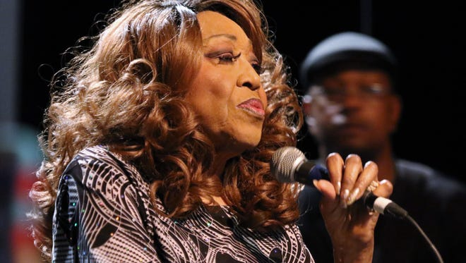 The 'Queen of the Blues'  Denise LaSalle performs many of her hit songs at a 2017 performance at the Carl Perkins Civic Center.