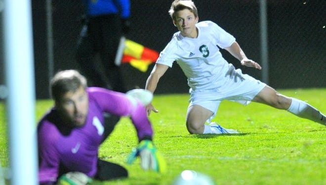 D.C. Everest's Jack Mittelsteadt, right, helped the Evergreens boys soccer team to the Wisconsin Valley Conference this fall