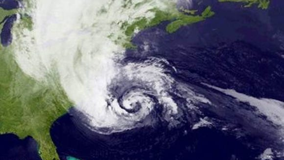 Hurricane Sandy on Oct. 28, 2012
