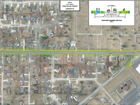 An option of the roundabouts presented at the public information meeting on March 13.