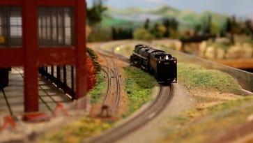 Model railroad club raffling off track