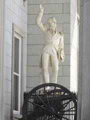 The statue of Ethan Allen at the Statehouse in Montpelier on Saturday, May 10, 2014.
