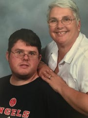 Chris Hazencomb (left) with his mother, Maryanne Hazencomb, in this family photo from the early 2000's. Chris Hazencomb was shot and killed in Las Vegas on Oct. 1, 2017.