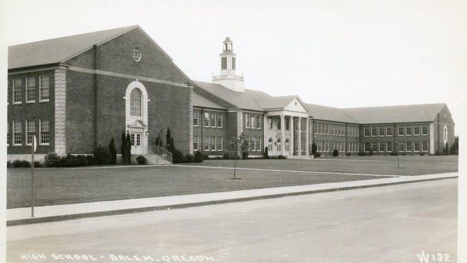 Salem High School, now North Salem High, is seen in the 1930s after construction was completed. The school opened in September 1937.