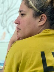 Inmate Angela Chancellor listens in on one of her first